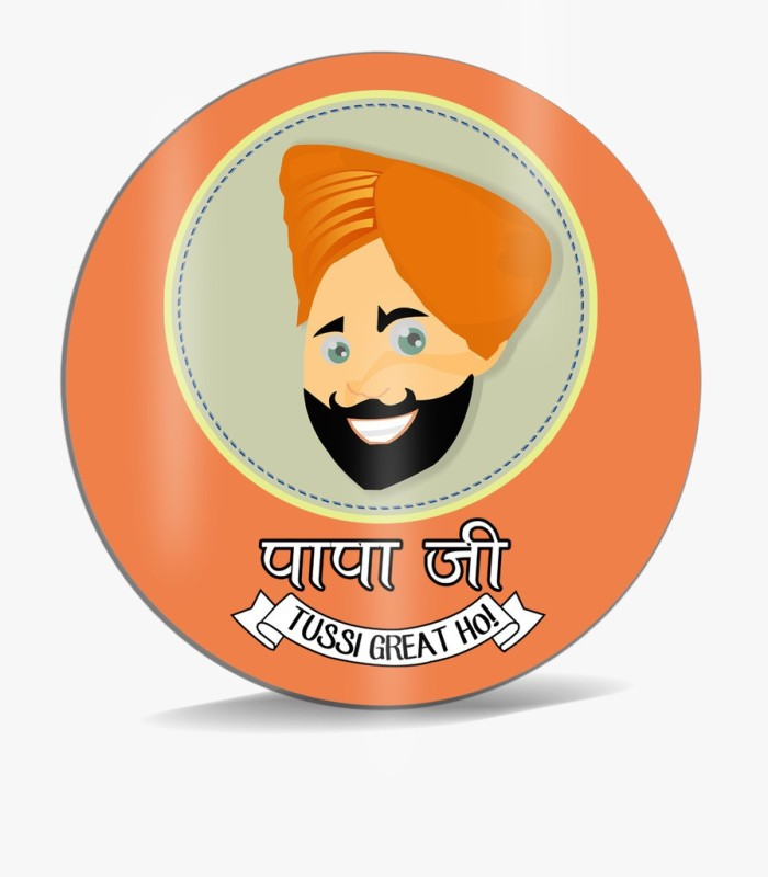 SKY TRENDS Papa Ji Tussi Great Ho Punjabi Sardar With Long Mustahes And Blue Color Background Best Gifts For Dad Happy Father's Day Mousepad(Multicolor)