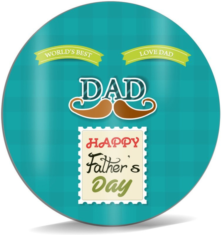 SKY TRENDS World's Best Love Dad With Brown Mustaches Happy Father's Day Best Gifts For Father's Day Mousepad(Multicolor)