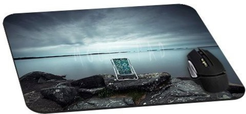 Magic Cases Alone Chair On Sea Stone Cool Mousepad(Multicolor)