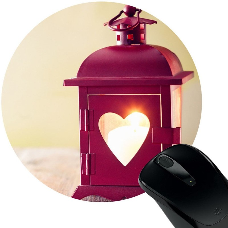 Huppme Love Lamp Mousepad(Black)