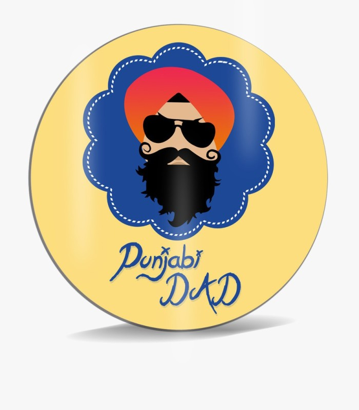 SKY TRENDS Punjabi Dad Sardar With Yellow Background And Mustaches Unique Gifts For Dad Father's Day Mousepad(Multicolor)