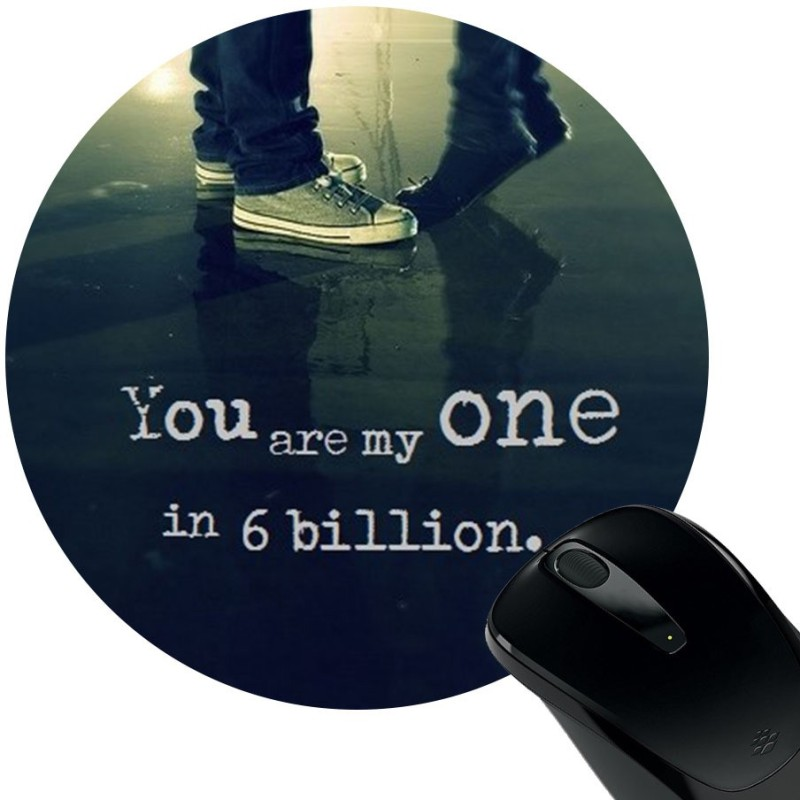 Huppme You Are My One Rubber Mousepad(Black)