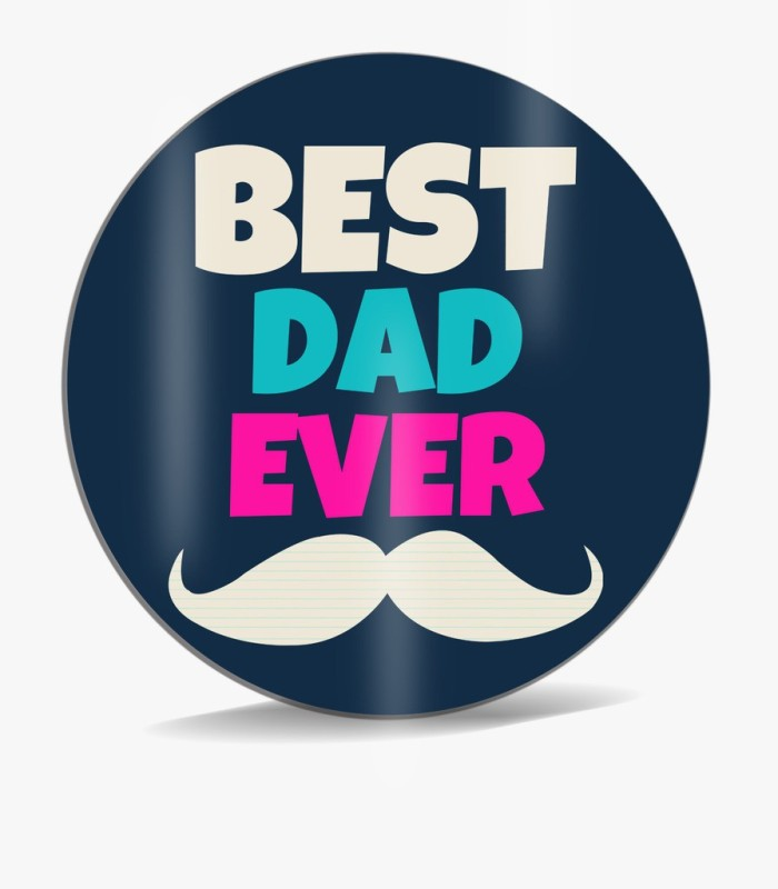 SKY TRENDS Best Dad Ever With White Mustaches Best Gift For Dad Happy Father's Day Mousepad(Multicolor)
