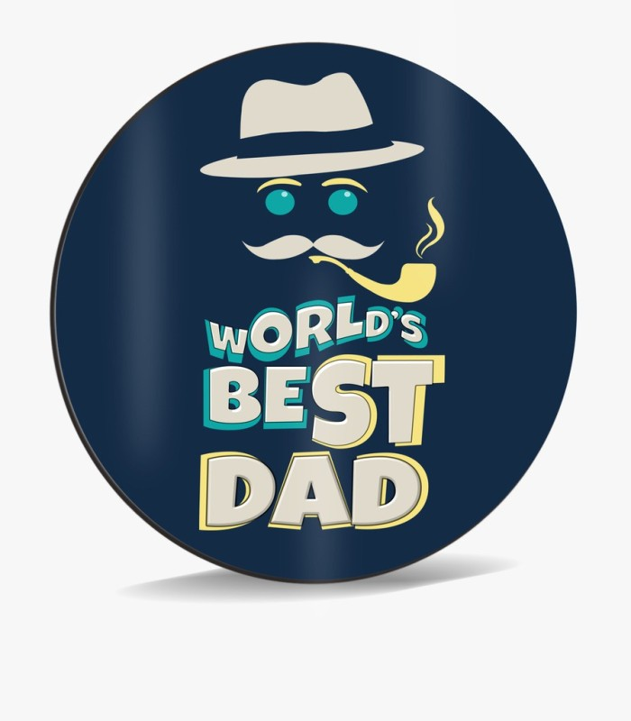 SKY TRENDS World's Best Dad With Smokstick And Blue Background Birthday Unique Gifts For Father's Day Mousepad(Multicolor)