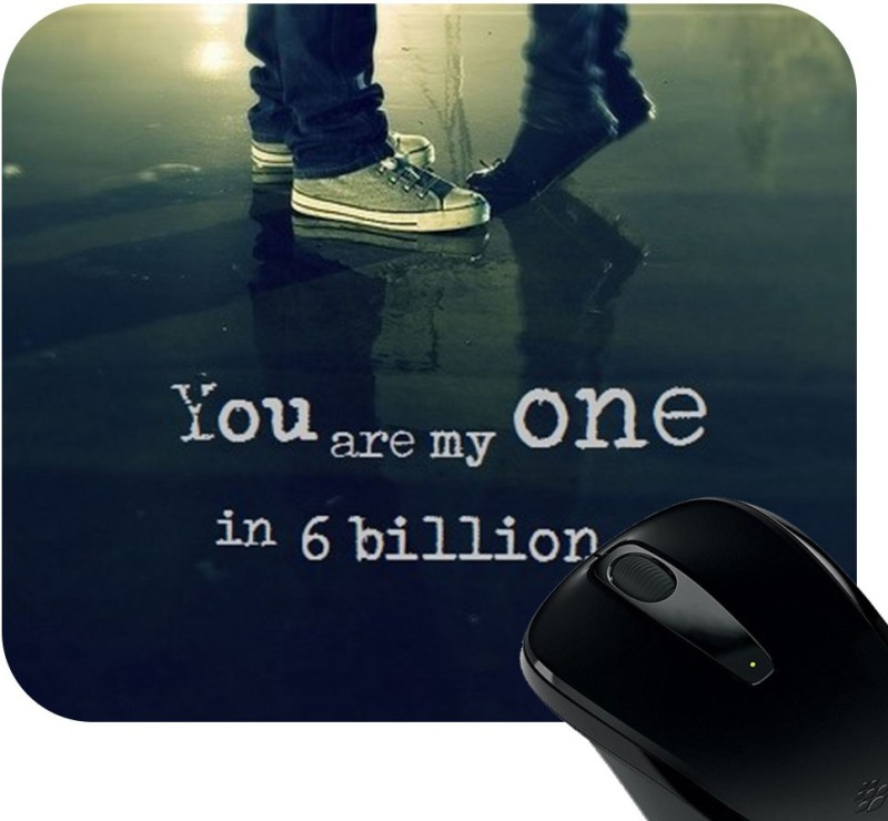 Huppme You Are My One Photo Mousepad Mousepad(Black)