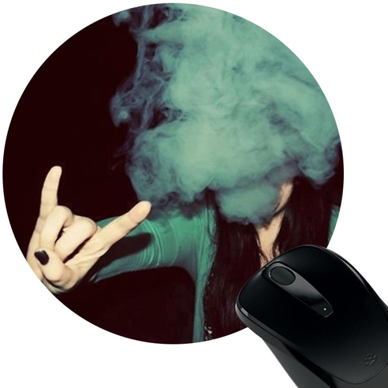 Huppme Smoker Girl Mousepad(Black)