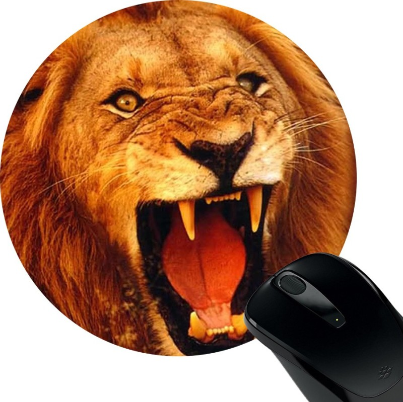 Huppme Lion Roar Mousepad(Black)