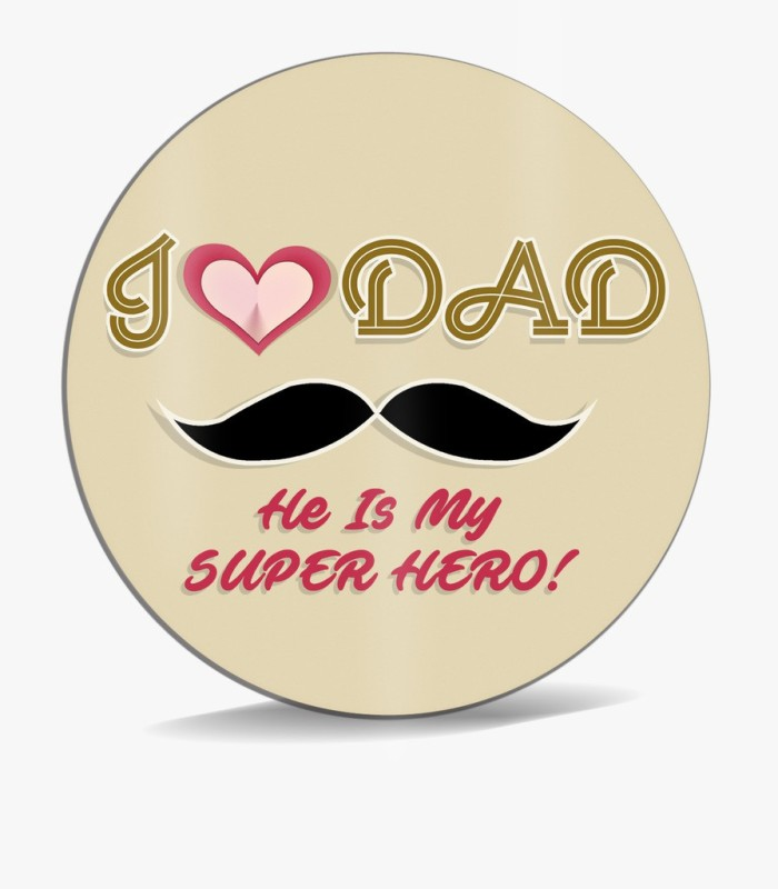 SKY TRENDS I Love Dad He Is My Super Hero ! With Mustaches Unique Gifts For Father's Day Mousepad(Multicolor)