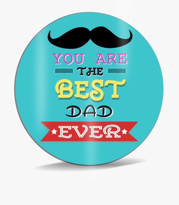 SKY TRENDS You Are The Best Dad Ever With Black Mustaches And Green Background Best Gifts For Dad Happy Father's Day Mousepad(Multicolor)