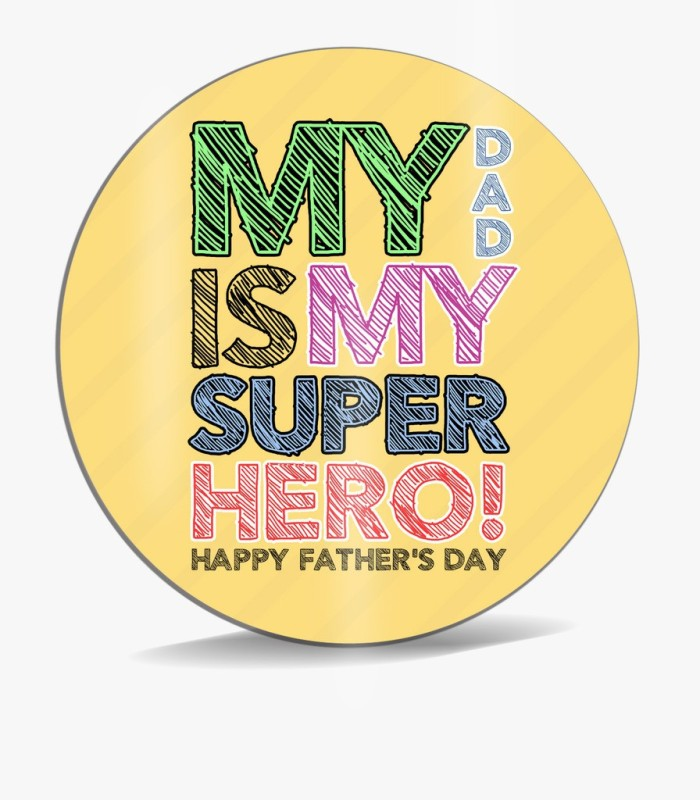 SKY TRENDS My Dad Is My Super Hero ! Multi color Shade Best Gifts For Dad Father's Day Mousepad(Multicolor)