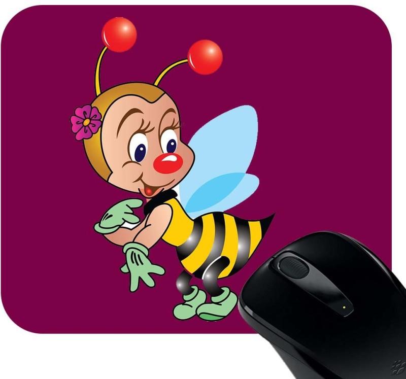 Huppme Bee Mousepad(Black)