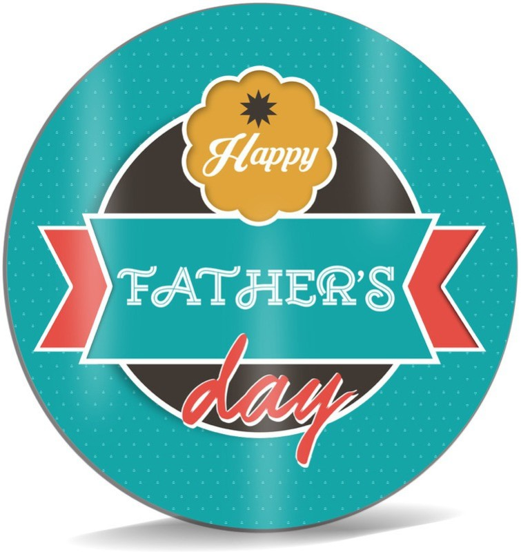 SKY TRENDS Happy Father's Dad With Circle Background Green Unique Gifts For Dad Fatrher's Day Mousepad(Multicolor)