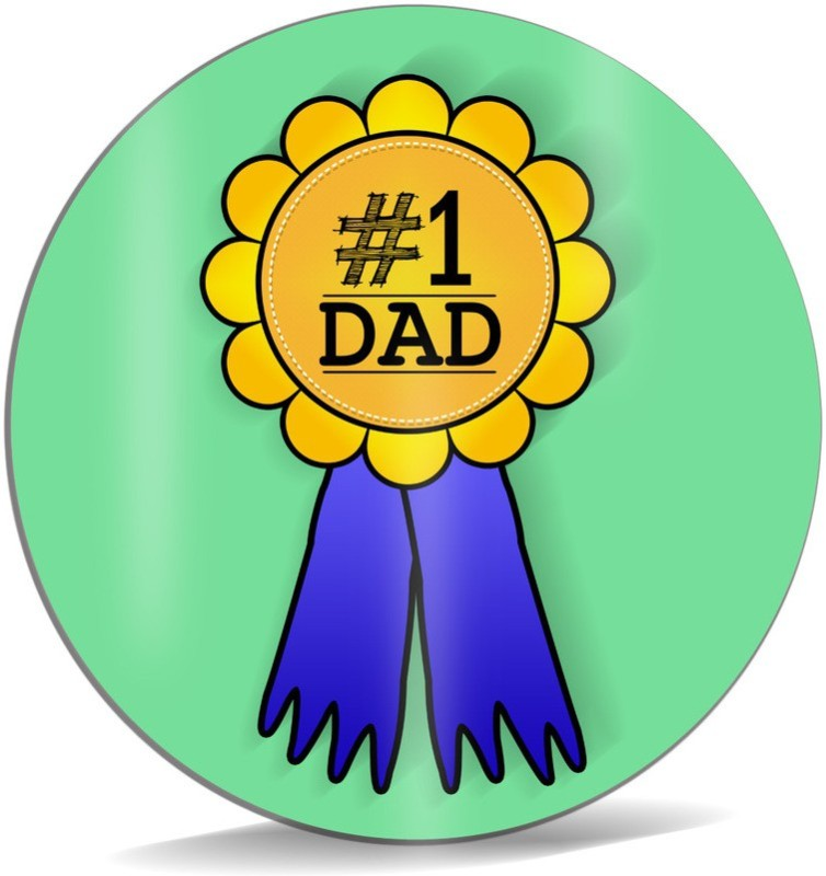 SKY TRENDS No.1 Dad A Special and Best Occassion With Yellow Color Flower Special Gifts For Dad Happy Father's Day Mousepad(Multicolor)