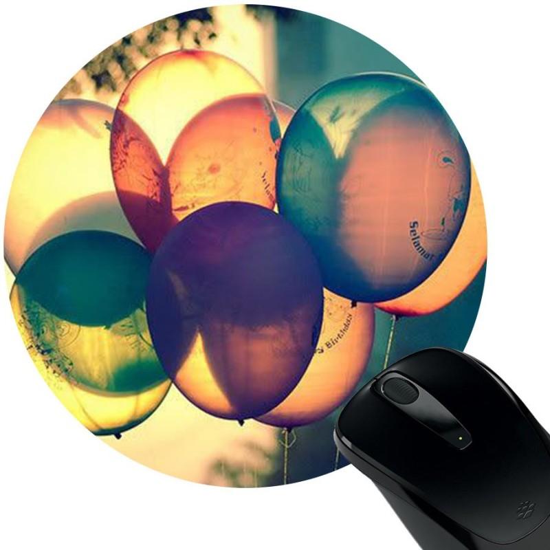 Huppme Balloons Rubber Mousepad(Black)