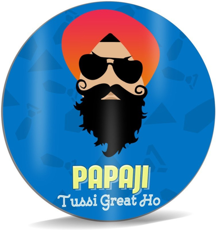SKY TRENDS Papa Ji Tussi Great Ho ! With Cute Smile And Mustaches Best Gifts For Father's Day Mousepad(Multicolor)