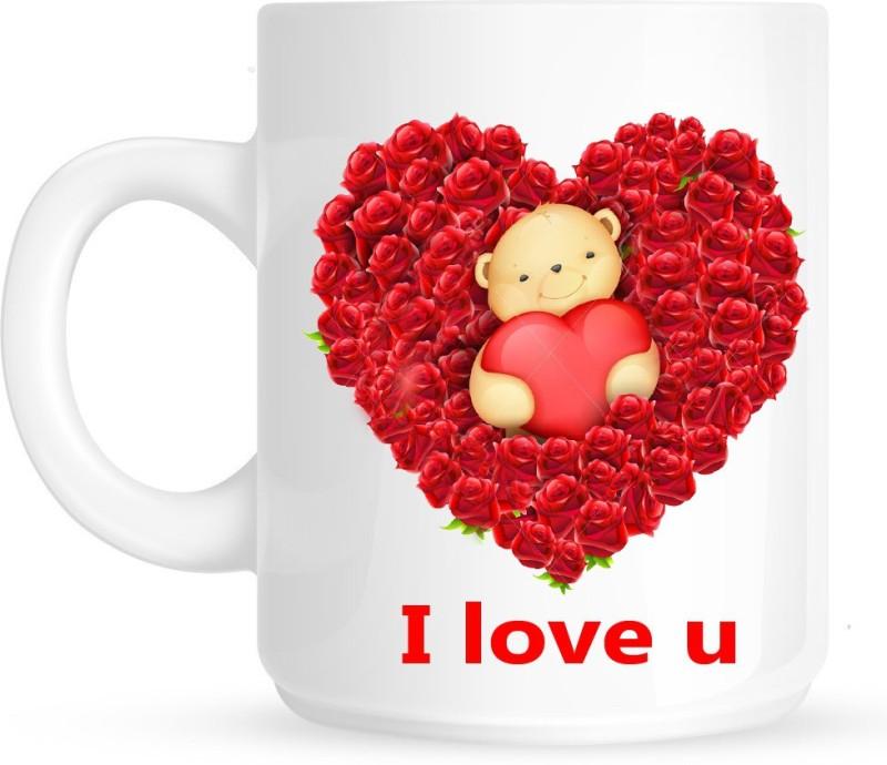 HuppmeGift I Love U21 White Ceramic Mug(350 ml)