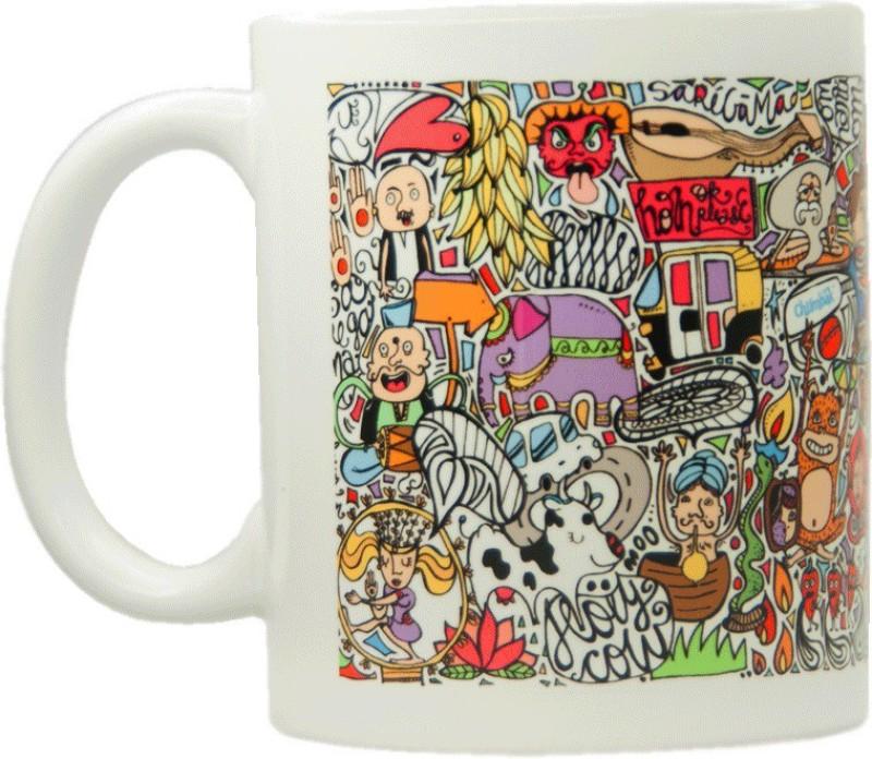 Chumbak Classic Pattern Ceramic Mug(300 ml)