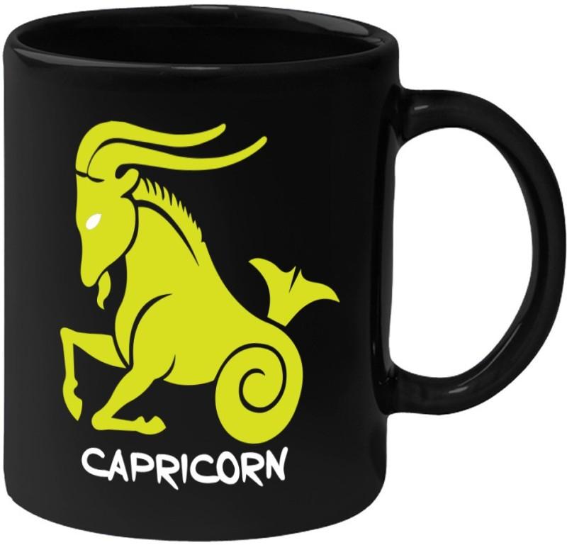 HuppmeGift Capricorn Black Ceramic Mug(350 ml)
