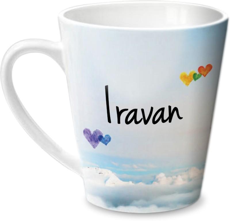 Hot Muggs Simply Love You Iravan Conical Ceramic Mug(350 ml)