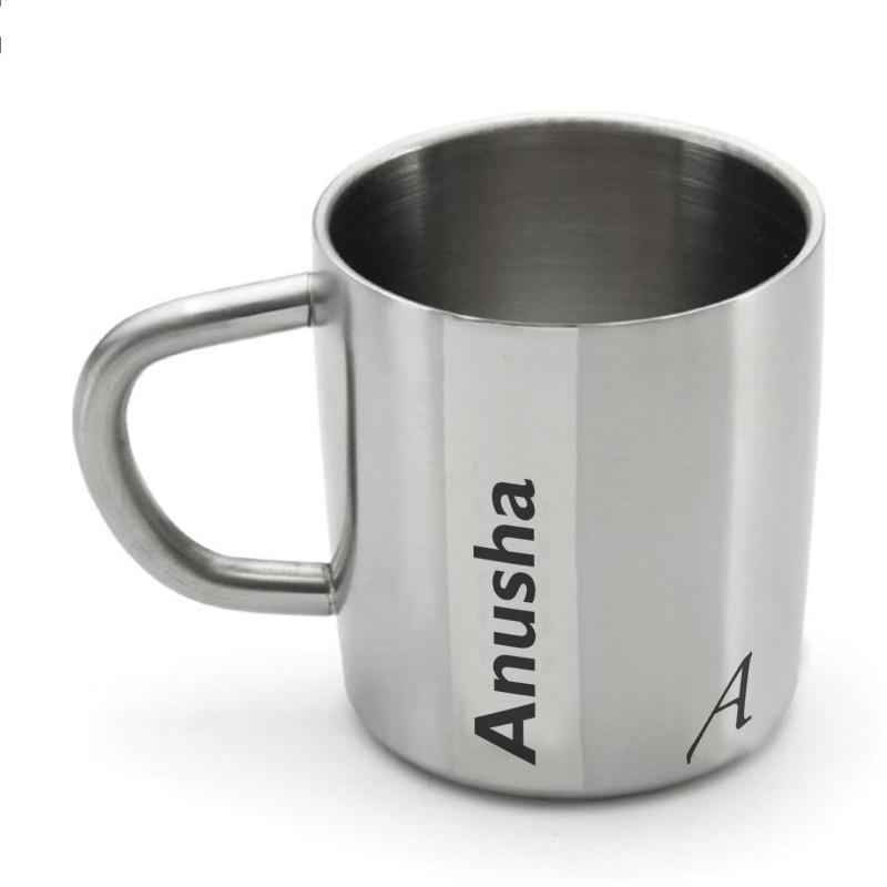 Hot Muggs Me Classic - Anusha Stainless Steel Mug(200 ml)