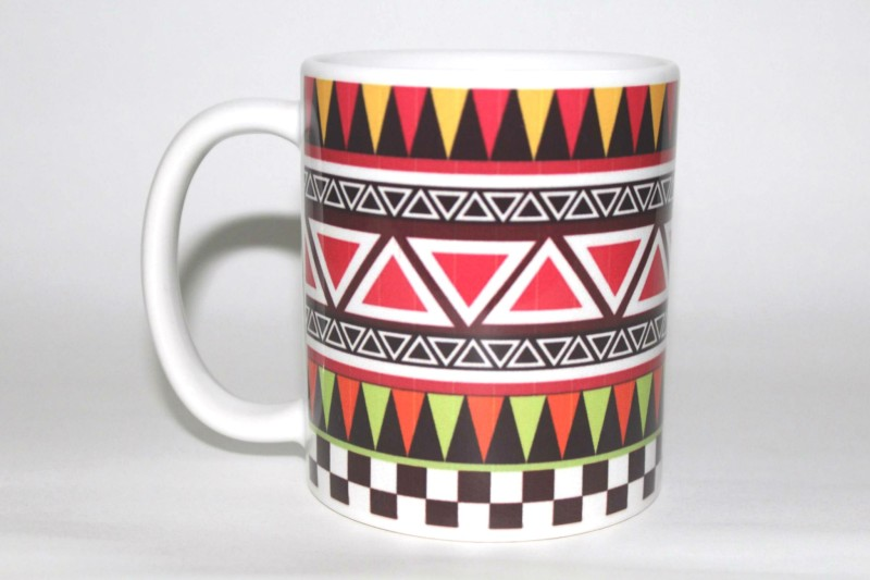 Uvam Aztec Bright Bone China Mug(250 ml)