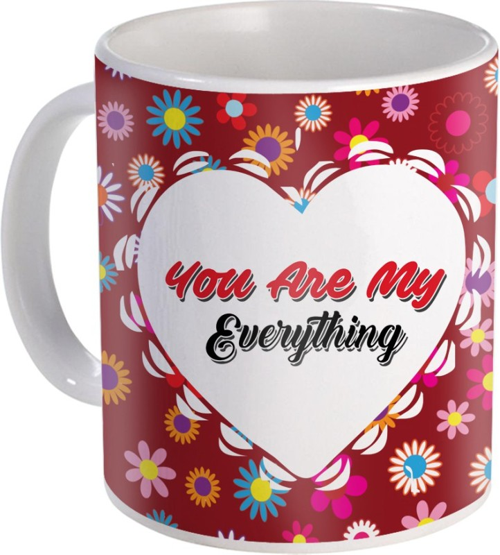 SKY TRENDS Can't Help Falling in Love mug Best Gift for Valentine's Day, Her, Girlfriend,boy friend,husband, Wife,Birthday, Anniversary,Christmas or Any Holidays Design 01 Ceramic Mug(320 ml)