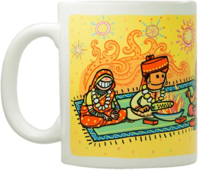Chumbak Wedding Mantap Ceramic Mug(300 ml)