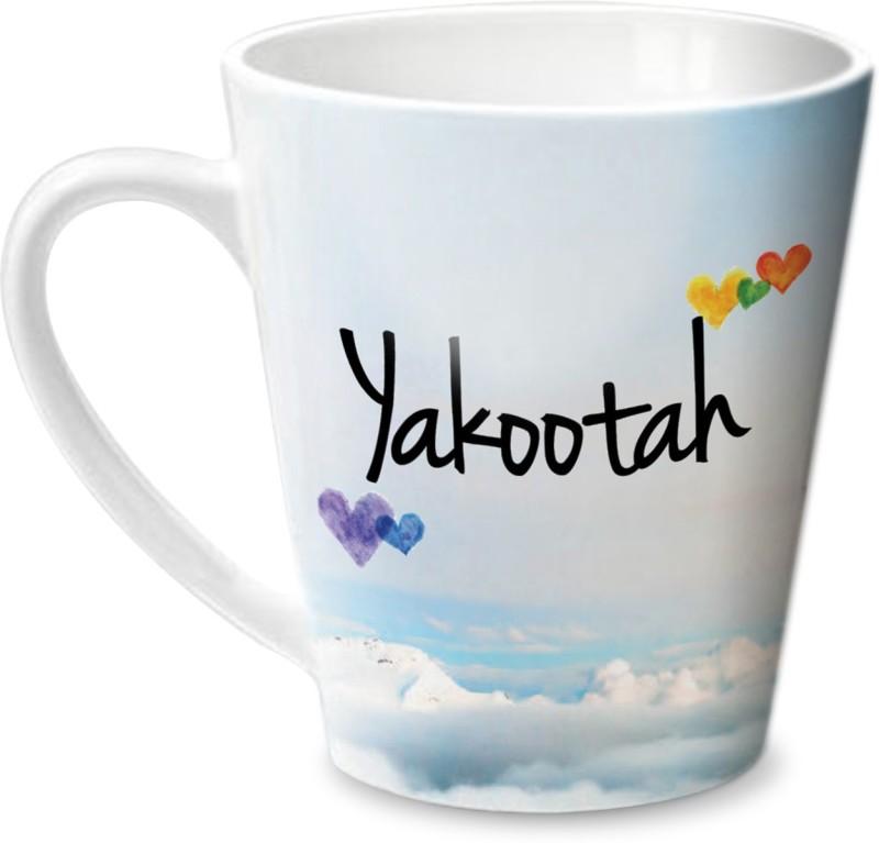 Hot Muggs Simply Love You Yakootah Conical Ceramic Mug(350 ml)