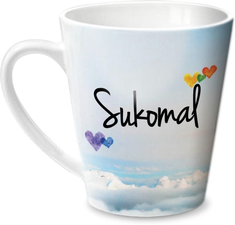 Hot Muggs Simply Love You Sukomal Conical Ceramic Mug(350 ml)