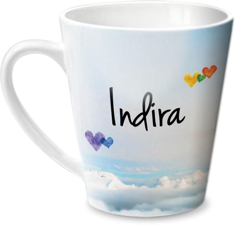 Hot Muggs Simply Love You Indira Conical Ceramic Mug(350 ml)