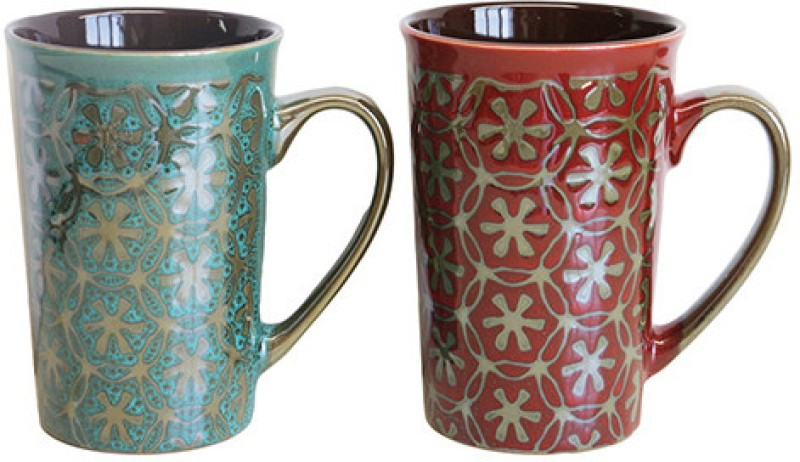 MOM Italy LTC10066 Ceramic Mug(325 ml, Pack of 2)