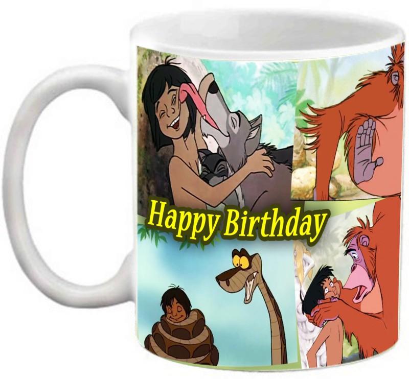 EFW HAPPY BIRTHDAY JUNGLE BOOK KIDS ANIMATION CARTOON PRINTED Ceramic Mug(325 ml)