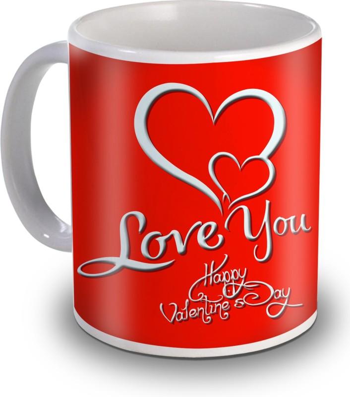 SKY TRENDS I Love You Heart Gift For Valentine's Ceramic Mug(350 ml)