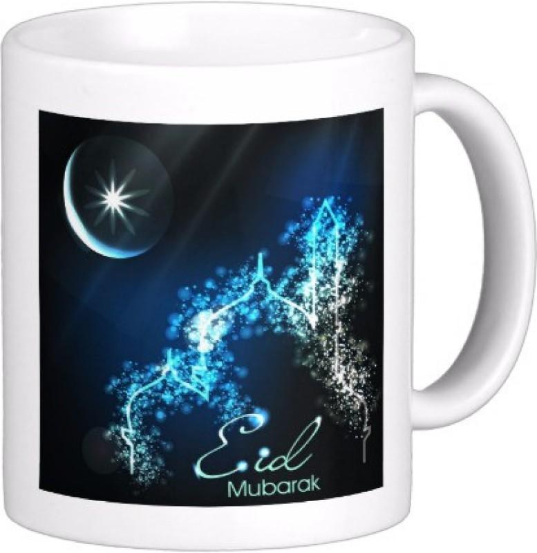Exoctic Silver Eid Mubarak AB005 Ceramic Mug(300 ml)