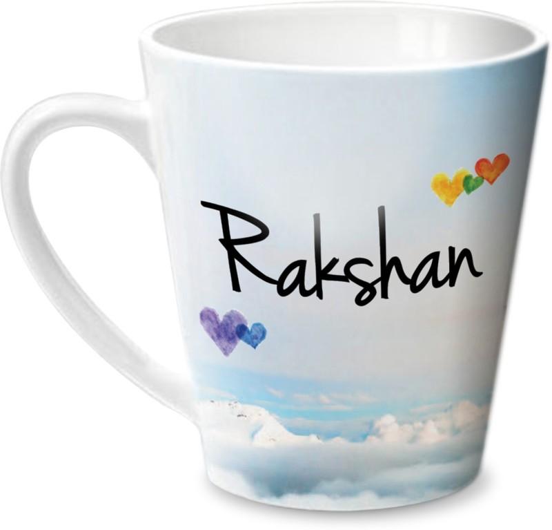 Hot Muggs Simply Love You Rakshan Conical Ceramic Mug(350 ml)
