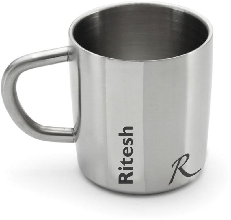 Hot Muggs Me Classic - Ritesh Stainless Steel Mug(200 ml)