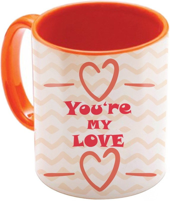 SKY TRENDS Valentine Gift for Girlfriend Love Printed I Love U Forever Perfect for Her Him Wife Fiance Anniversary And Birthday STGD131 Ceramic Mug(325 ml)