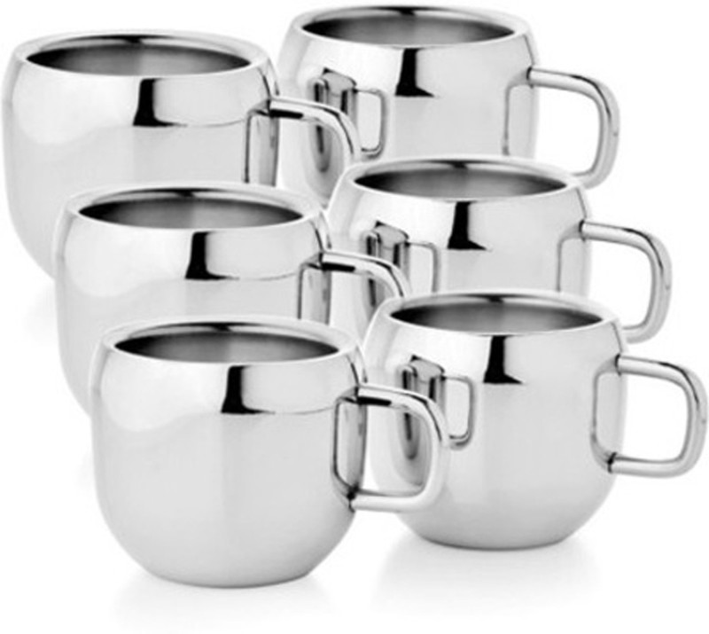 Antia Steel Apple Tea - 101-SP Stainless Steel Mug(100 ml, Pack of 6)