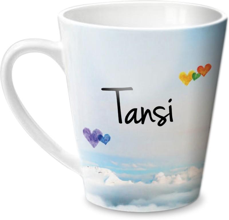 Hot Muggs Simply Love You Tansi Conical Ceramic Mug(350 ml)