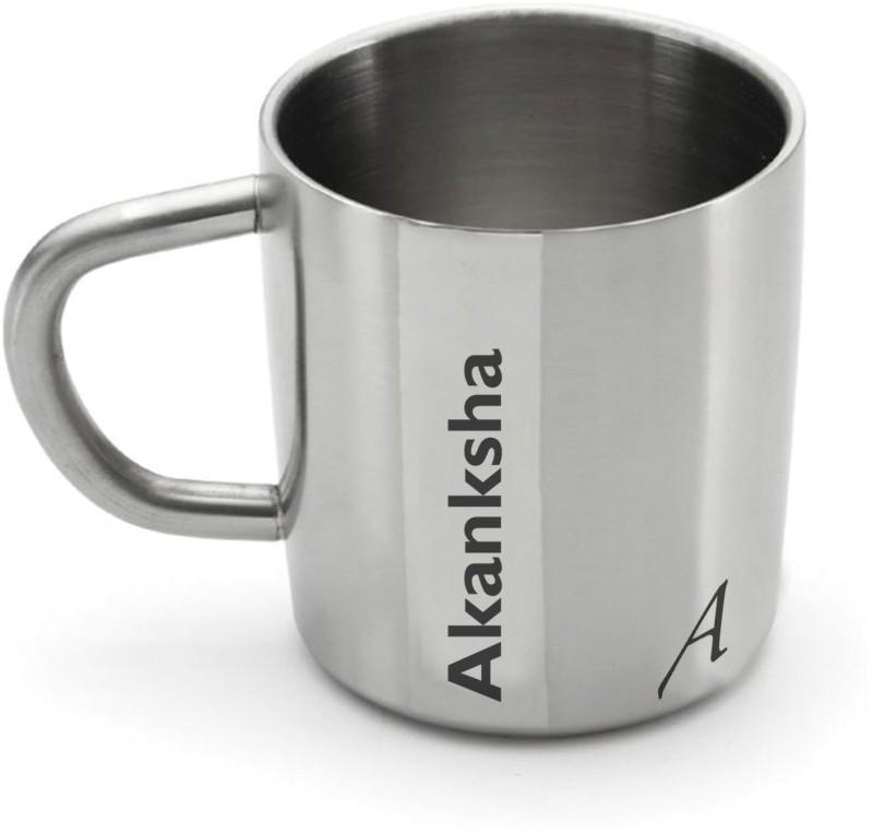Hot Muggs Me Classic - Akanksha Stainless Steel Mug(200 ml)