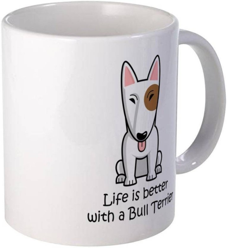 Arkist bull-terrier-coffee-mug-novelty-coffee-cup Ceramic Mug(340 ml)