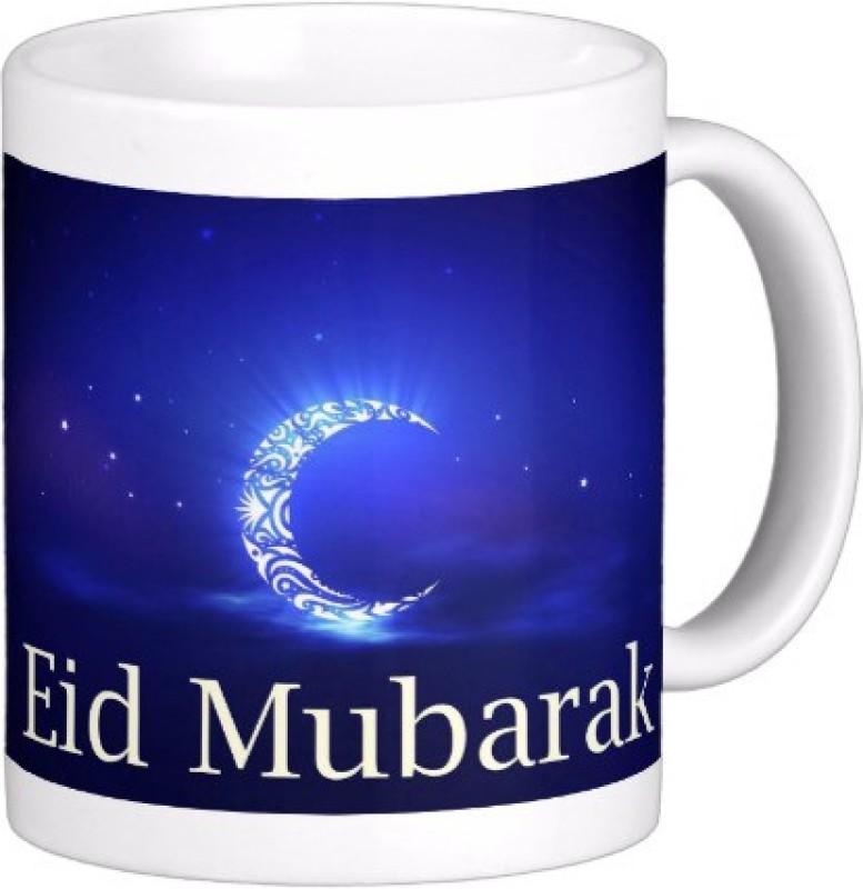 Exoctic Silver Eid Mubarak AB003 Ceramic Mug(300 ml)
