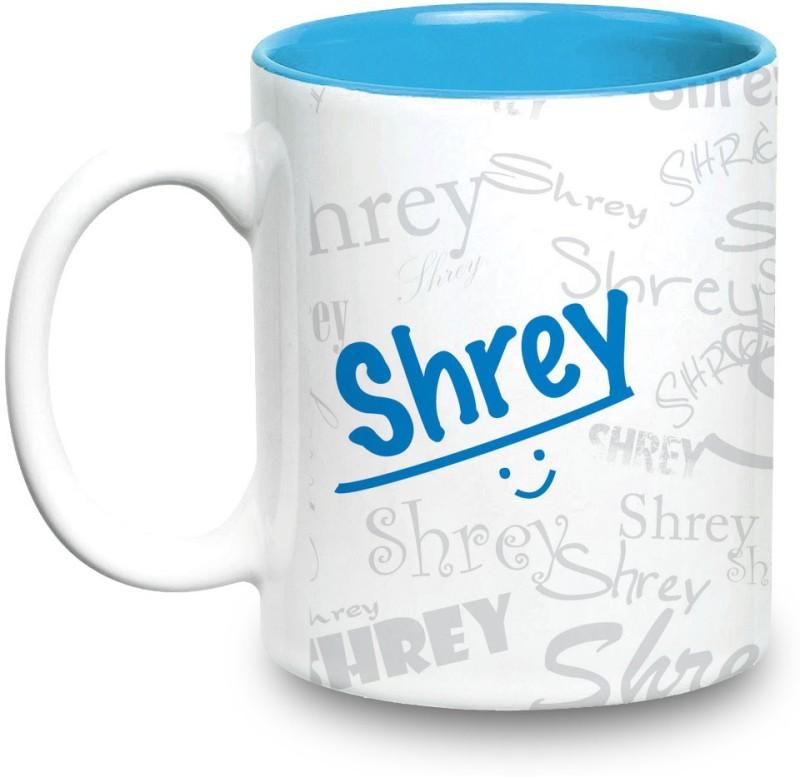Hot Muggs Me Graffiti - Shrey Ceramic Mug(350 ml)