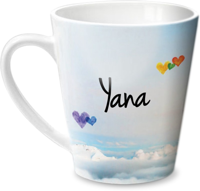 Hot Muggs Simply Love You Yana Conical Ceramic Mug(350 ml)