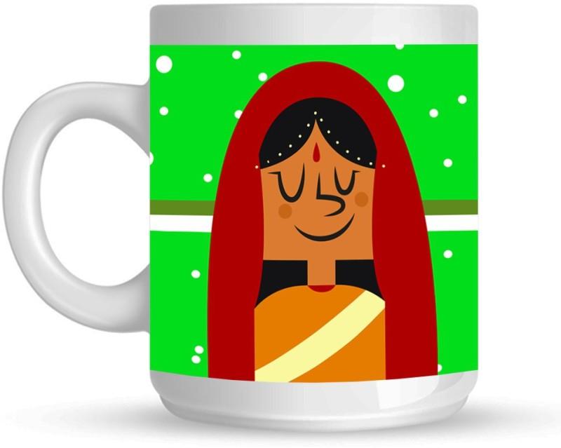 HuppmeGift Sarvshresth Balalaika White Ceramic Mug(350 ml)