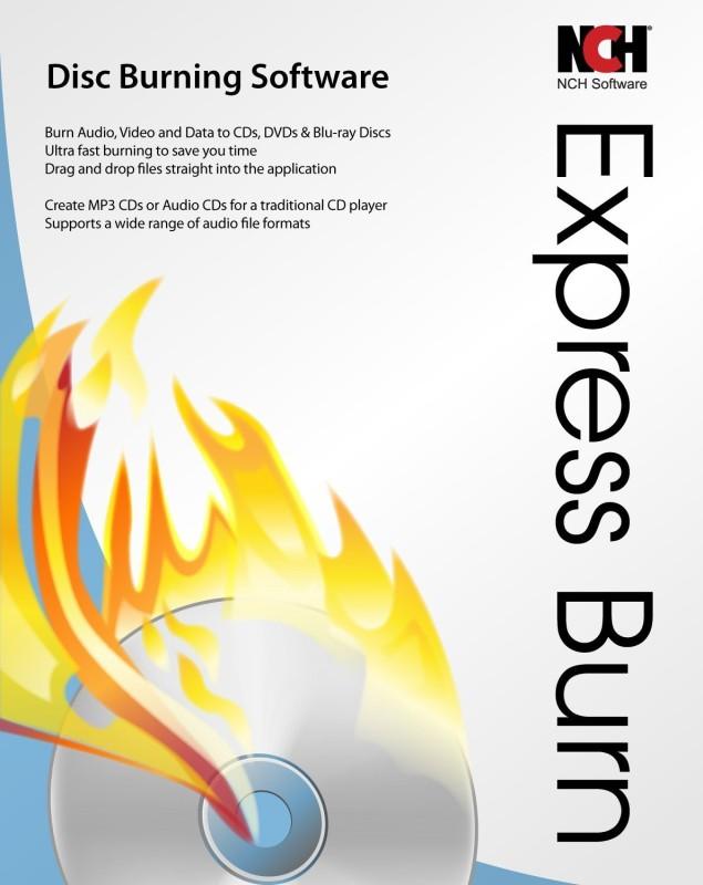 NCH Express Burn CD DVD Blu Ray Software Professional(1 CD)