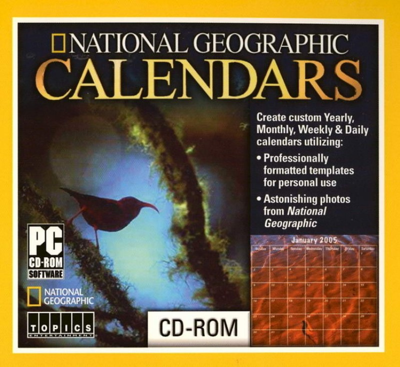 Topics Entertainment National Geographic Calendars(1 CD-ROM)