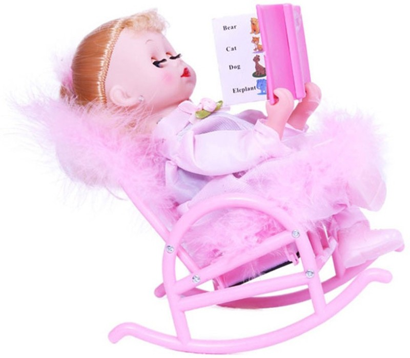 A R ENTERPRISES MUSICAL BOOK READING DOLL FOR KIDS(Pink)
