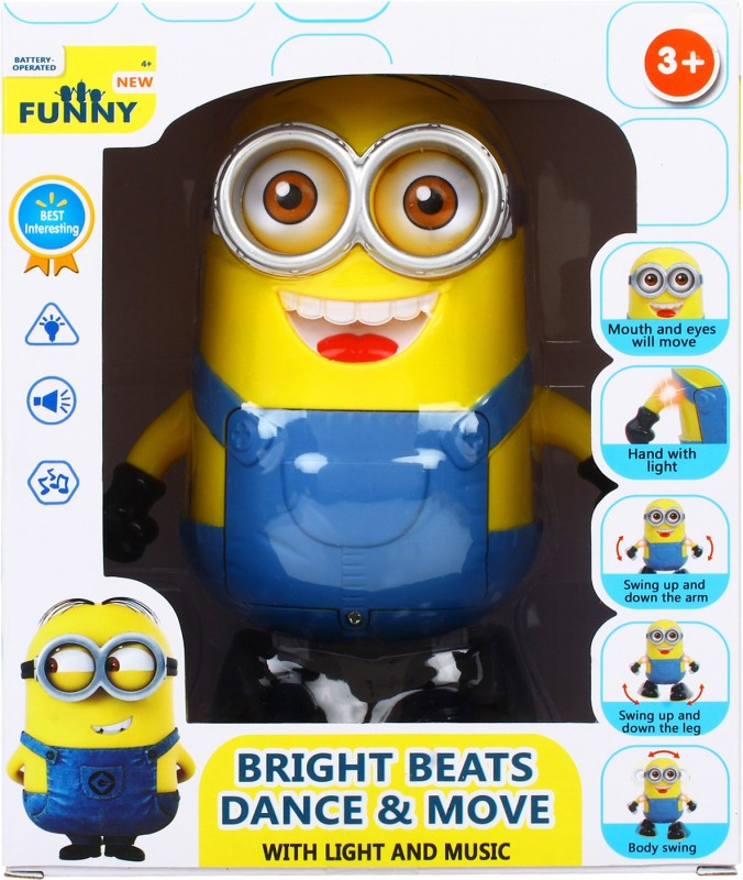 TANVI INTERNATIONAL SINGING AND DANCING MINION(Yellow)