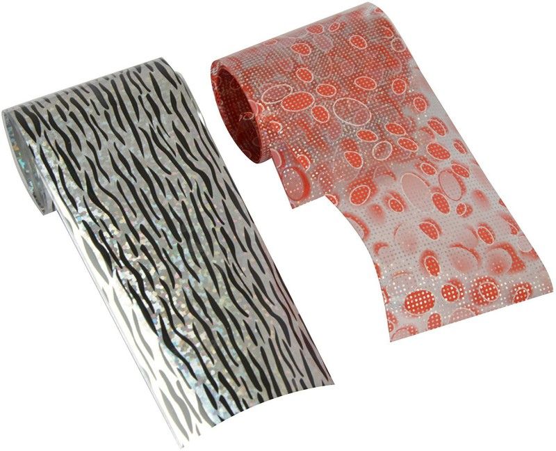 Looks United Nail Art Transfer Foil 1M Long Strip ( Pack of 2 )(Multi)